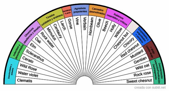 Diagnostico diferencial de las flores de Bach