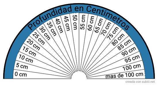 Profundidad en Centimetros