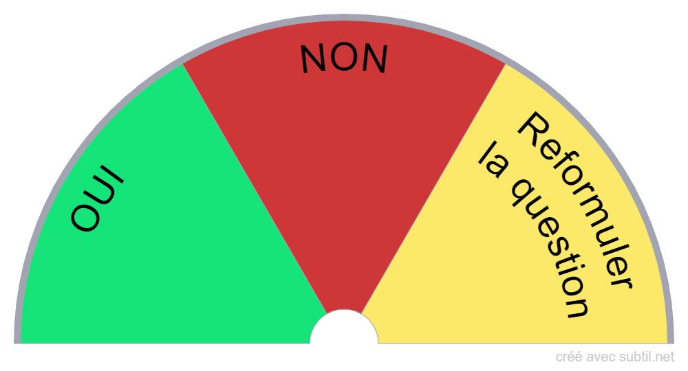 Planche oui / non / Reformuler