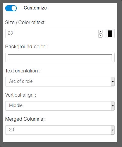 Options menu of an item