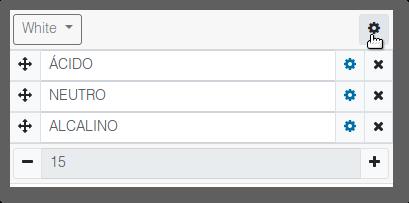 botón personalización del grupo
