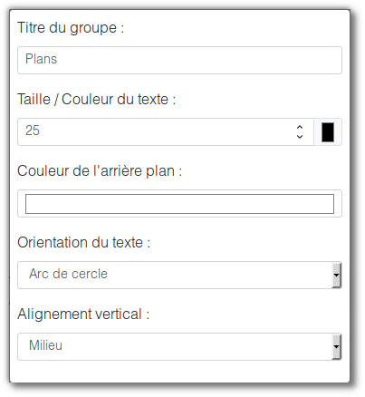 Menu options du groupe