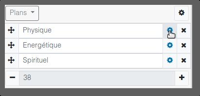 Open option of an element